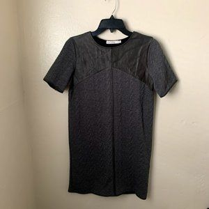 Bishop + Young  Mini Dress Gray Short Sleeve